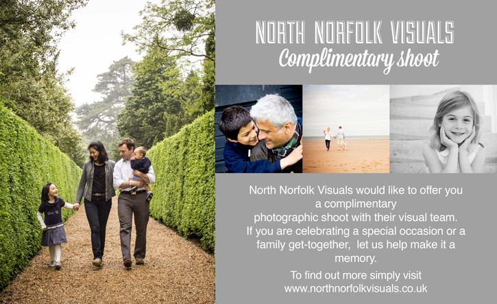 Complimentary phot oshoot with Norfolk Visuals